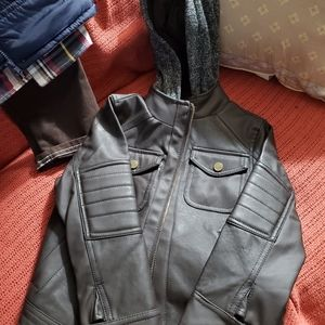 Toddler Faux Leather Jacket and 3 piece set